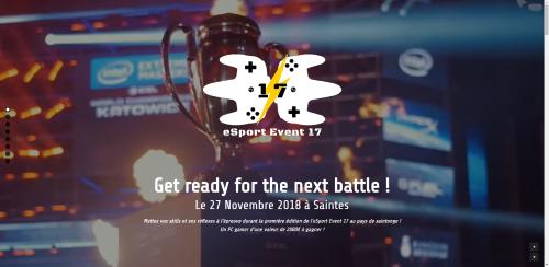Création spécimen site E-sport
