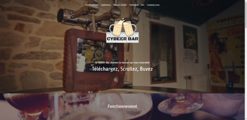 Création spécimen site internet Cybeer bar