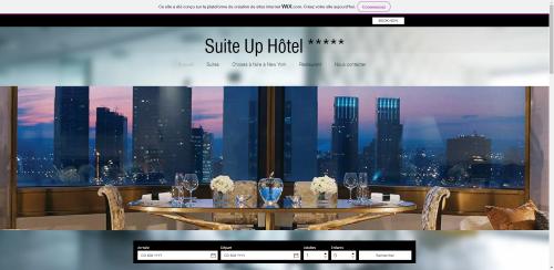 Réalisation spécimen site internet Suite UP Hôtel
