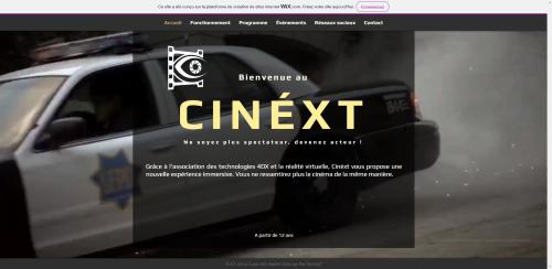 Réalisation spécimen site internet Cinéxt