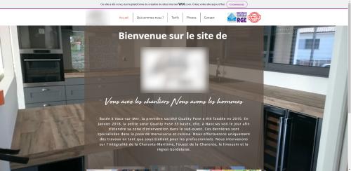 Réalisation spécimen de site internet pour une entreprise de menuiserie